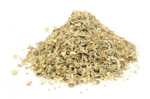 Herbes de Provence (Mixture of Dried Herbs) Isolated on White
