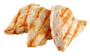 Slices of roasted turkish breast.